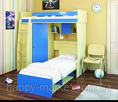 Двухярусная кровать с мобильным спальным местом ДКМС 0306