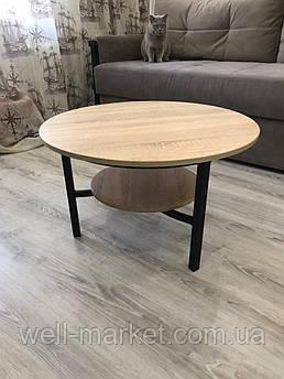 Круглый журнальный стол в стиле loft