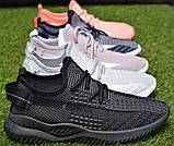 Детские кроссовки носки Adidas Yeezy Boost адидас розовый р32-36, копия, фото 2