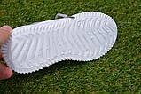 Детские кроссовки носки Adidas Yeezy Boost адидас розовый р32-36, копия, фото 6