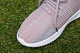 Детские кроссовки носки Adidas Yeezy Boost адидас розовый р32-36, копия, фото 7