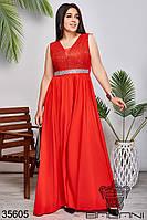 Женское вечернее платье красное 42,44,46,48,50,52,54