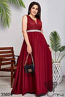 Женское вечернее платье цвет марсал 42,44,46,48,50,52,54