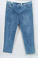Турецкие летние женские джинсы на резинке больших размеров 64-72
