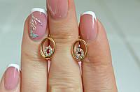 Женские серьги из медицинского золота.