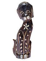 Статуэтка собачка деревянная 25см,декор резьба