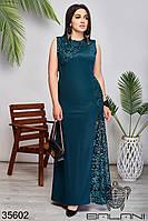 Женское вечернее платье макси цвет бутылка 42-44,44-46,48-50,50-52