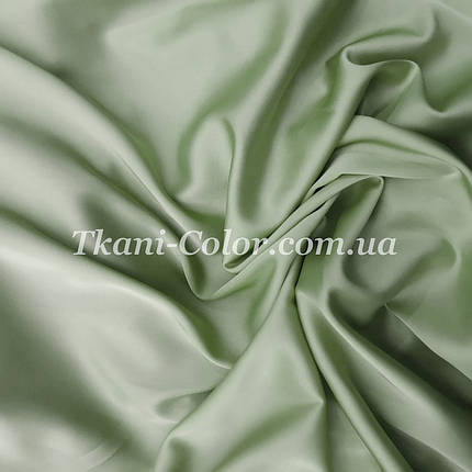 Ткань шелк армани фисташка, фото 2