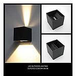Архітектурний LED світильник Skarlat OLP23703-COB 3W+3W BK 3000K IP54, фото 6