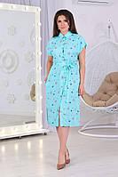 Платье рубашка с поясом 52539, фото 1