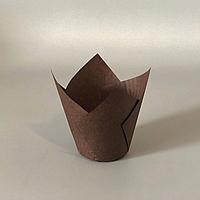 """Паперові форми """"Тюльпан"""" (50х80мм) коричневі (200 шт.)"""