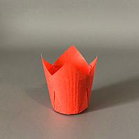 """Паперові форми """"Тюльпан"""" (50х75мм) червоні (200 шт.)"""