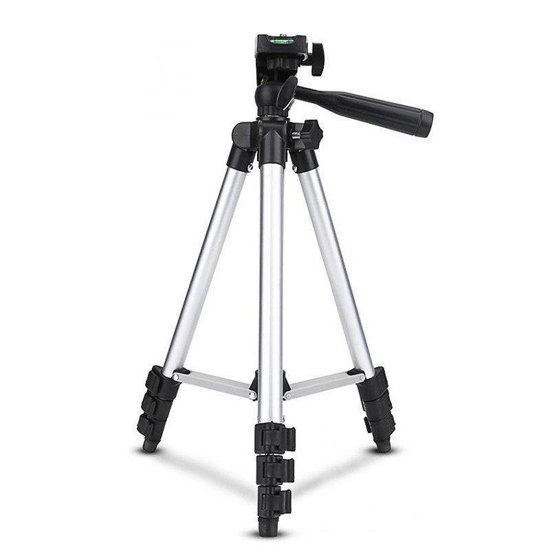 Штатив для видеотехники и смартфона с уровнем TRIPOD TF-3110, телескопический