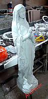 Скульптура Матері Божої, бетон + фарбування у білий матовий