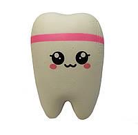 Мягкая игрушка антистресс Сквиши Squishy Зуб 62 - Розовый, КОД: 1429022