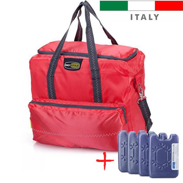 Термосумка Giostyle Vela 33 L Red (сумка-холодильник, ізотермічна сумка). Охолодження 18 годин!