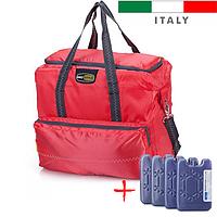 Термосумка Giostyle Vela 33 L Red (сумка-холодильник, ізотермічна сумка). Охолодження 18 годин!, фото 1