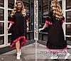 Платье летнее короткий рукав свободного фасона софт 50-52,52-56,58-60, фото 2