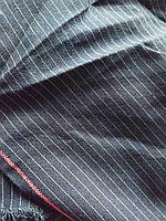 Костюмная ткань полушерсть в полоску 86*126 см