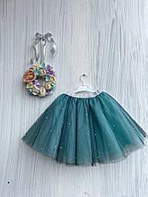 Пышная фатиновая юбка с жемчугом