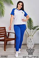 Женский спортивный костюм электрик 48-50,52-54,56-58, фото 1