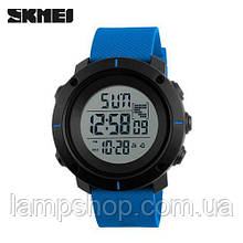 Мужские часы Skmei 1212 Black-Blue Wristband
