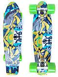 Скейт Penny Board, с широкими колесами Пенни борд, детский , от 5 лет расцветка Абстракция, фото 2