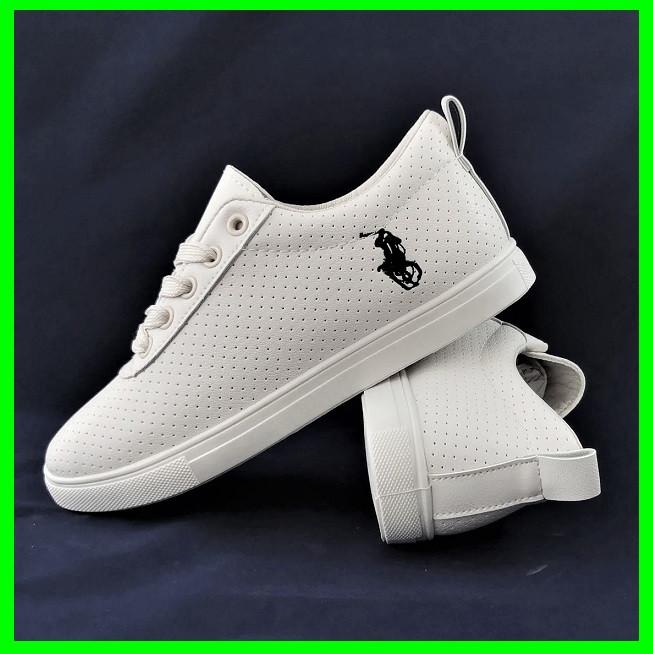 Жіночі Кросівки Polo Білі Сіточка Літні Мокасини Сліпони (розміри: 36,37,38,39,40,41)