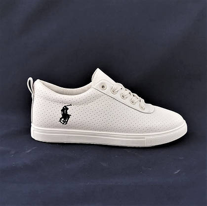 Жіночі Кросівки Polo Білі Сіточка Літні Мокасини Сліпони (розміри: 36,37,38,39,40,41), фото 2