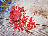 """Наполнитель для пакет-шейкера для аквабантиков, """"Цветочек"""", d 10 мм, цвет красный, 5 грамм, фото 1"""
