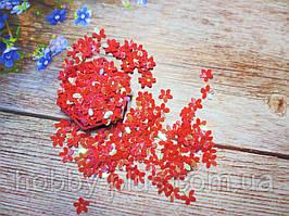 """Наполнитель для пакет-шейкера для аквабантиков, """"Цветочек"""", d 10 мм, цвет красный, 5 грамм"""