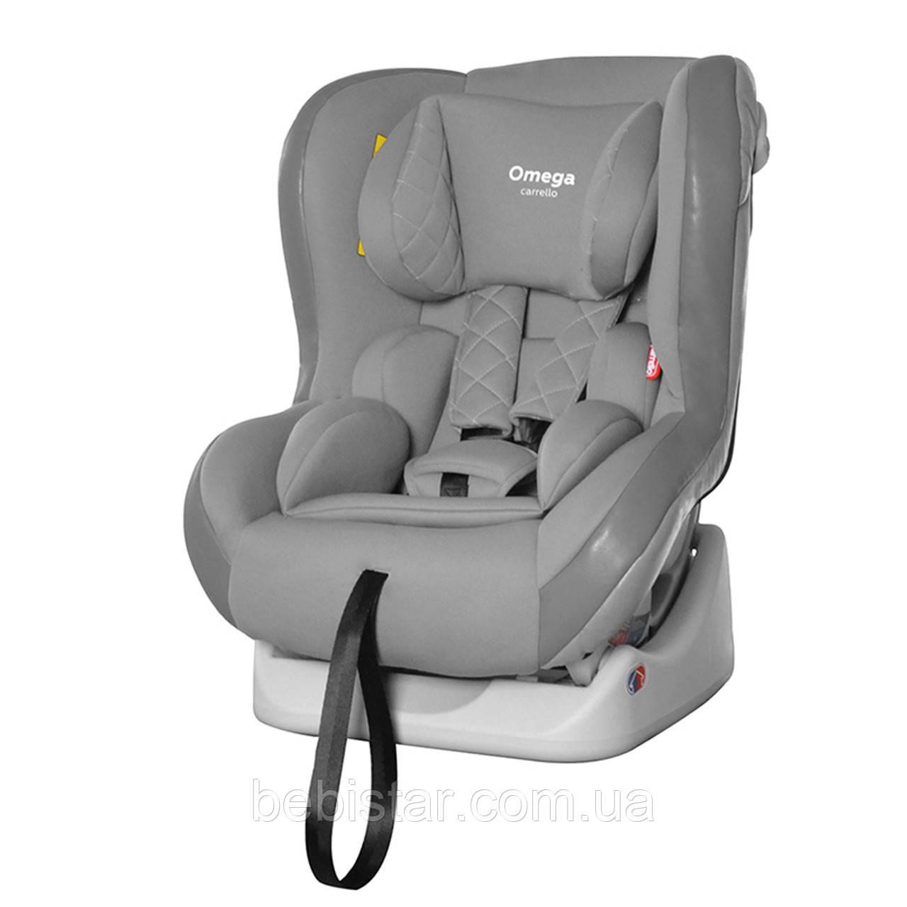 Автокресло детское с рождения до 4 лет (0-18кг) серое с наклоном для сна Carrello Omega CRL-11806 Grey Wolf