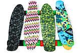 Скейт Penny Board, с широкими колесами Пенни борд, детский , от 5 лет расцветка Абстракция, фото 4