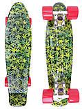 Скейт Penny Board, с широкими колесами Пенни борд, детский , от 5 лет расцветка Листья, фото 3