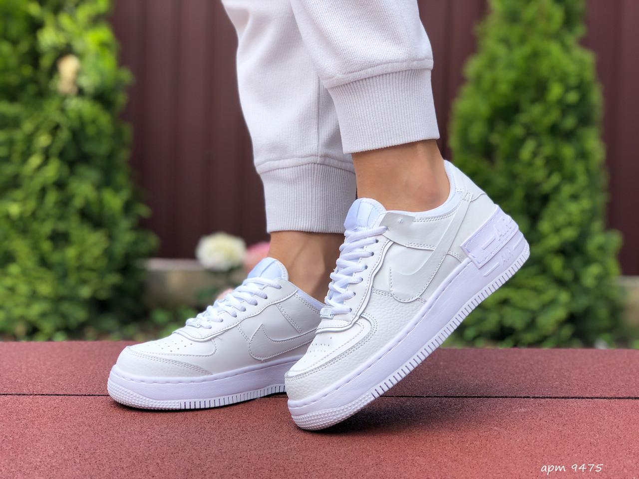 Женские кроссовки Nike Air Force 1 Shadow, белые 36р