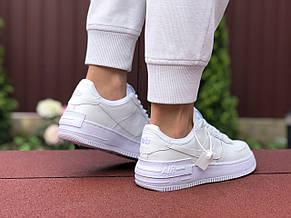 Женские кроссовки Nike Air Force 1 Shadow, белые 36р, фото 3