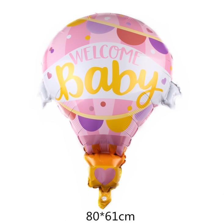 """Фольгированный шар """"Воздушный шар розовый"""" 80х61 см (Китай) в упаковке"""