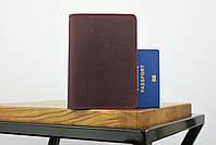 """Обложка для паспорта бордового цвета """"london"""", фото 2"""