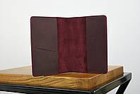 """Обложка для паспорта бордового цвета """"london"""", фото 3"""