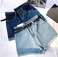 Женские Джинсовые шорты с завышенной талией  Китай ,в размерах S, M,L