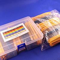 Набор резисторы 2600 шт. 1/4 Вт, 0.25Вт, 130 видов по 20 штук в коробочке, фото 1