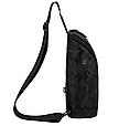 Сумка слінг чорна чоловіча текстиль легка на груди барсетка через плече месенджер 509, фото 3