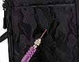 Сумка слінг чорна чоловіча текстиль легка на груди барсетка через плече месенджер 509, фото 10