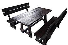 Набори садових меблів стіл + 2 лавки з масиву сосни