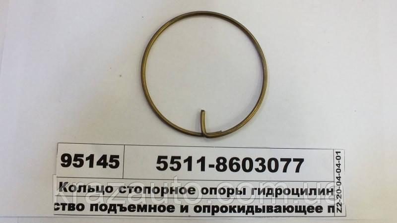 Кільце стопорне опори гідроциліндра КАМАЗ 5511-8603077