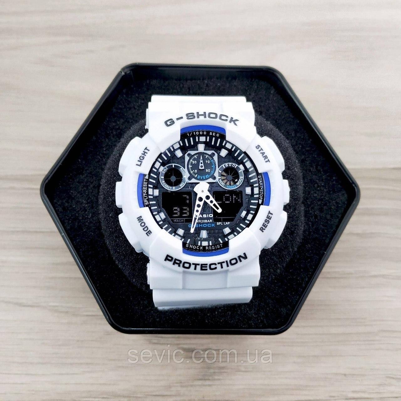 Casio G-Shock GA-100 White-Blue-Black