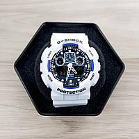 Casio G-Shock GA-100 White-Blue-Black, фото 1