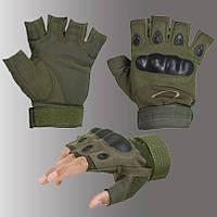 Перчатки тактические беспалые Oakley оклей олива, фото 1