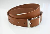 Мужской брючный кожаный ремень рыжего цвета размер s, фото 3