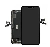 Дисплей (экран) для iPhone X + тачскрин, черный, копия высокого качества, OLED